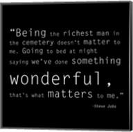 Richest Man Quote Fine-Art Print
