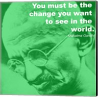 Gandhi - Change Quote Fine-Art Print