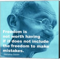 Gandhi - Freedom Quote Fine-Art Print