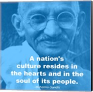 Gandhi - Nations Quote Fine-Art Print