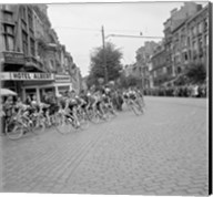 Cyclists in action tour de france 1960 Fine-Art Print