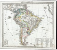 1862 Perthes map of South America Fine-Art Print