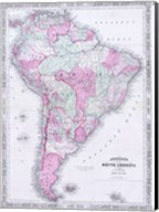 1863 Johnson's Map of South America Fine-Art Print