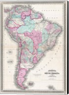 1870 Johnson Map of South America Fine-Art Print