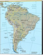 Map of South America Fine-Art Print