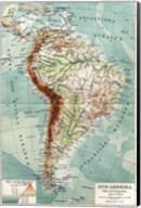 Syd-Amerika. Flod- och bergs system Fine-Art Print