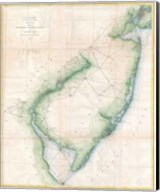 1873 U.S. Coast Survey Chart NJ and the Delaware Bay Fine-Art Print