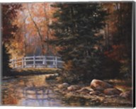 Foot Bridge in the Woods Fine-Art Print
