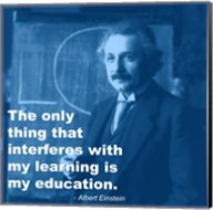Einstein Education Quote Fine-Art Print