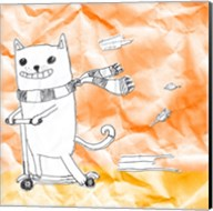 Skateboarding Cat II Fine-Art Print