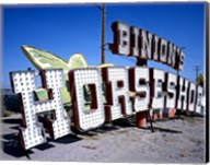 Binion's Horseshoe Casino sign at Neon Boneyard, Las Vegas Fine-Art Print