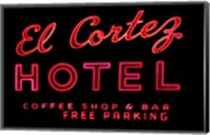 Historic El Cortez Hotel neon sign, Freemont Street, Las Vegas Fine-Art Print