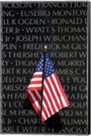 American flag at Vietnam Veterans Memorial Fine-Art Print