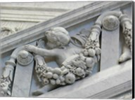 Library of congress architecture detail child turned Fine-Art Print