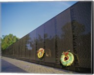 Wreaths on the Vietnam Veterans Memorial Wall, Vietnam Veterans Memorial, Washington, D.C., USA Fine-Art Print