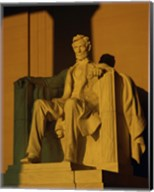 Low angle view of a statue, Lincoln Memorial, Washington DC, USA Fine-Art Print
