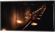Memorial wall lit up at night, Vietnam Veterans Memorial Wall, Vietnam Veterans Memorial, Washington DC, USA Fine-Art Print