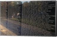 Text on a memorial wall, Vietnam Veterans Memorial Wall, Vietnam Veterans Memorial, Washington DC, USA Fine-Art Print