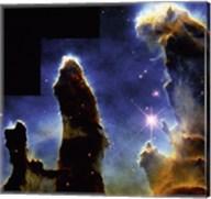 Gaseous pillars of M-16 Eagle Nebula, Star birth photographed by Hubble Space Telescope Fine-Art Print