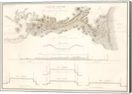 Canal du Cape-Cod Massachusetts, 1834 map Fine-Art Print