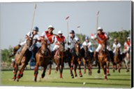 Indonesia plays against Thailand in a round robin SEA Games 2007 Thailand Polo match Fine-Art Print