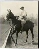 M.J. Waterbury, polo player Fine-Art Print