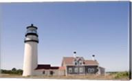 Lighthouse in a field, Cape Cod Lighthouse (Highland), North Truro, Massachusetts, USA Fine-Art Print