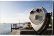 Close-up of coin-operated binoculars, Cape Cod, Massachusetts, USA Fine-Art Print