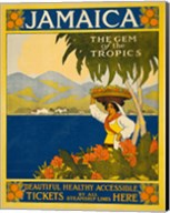 Jamaica, the gem of the tropics, travel poster, 1910 Fine-Art Print