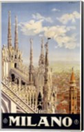 Milano Travel Poster Fine-Art Print