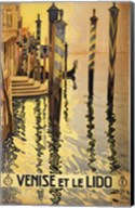 Venise et le Lido travel poster 1920 Fine-Art Print