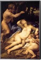 Correggio - Venus and Cupid with a Satyr Fine-Art Print