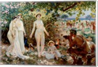 Judgment of Paris he goddesses Athena, Hera and Aphrodite Fine-Art Print
