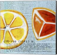 Citrus text - mini Fine-Art Print