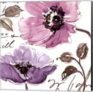 Floral Waltz Plum I Fine-Art Print