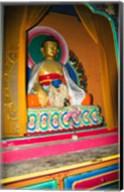 Statue of Buddha in a temple, Paugha, Annapurna Range, Nepal Fine-Art Print