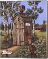 Outhouse - Rooster Fine-Art Print
