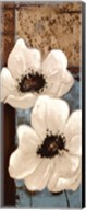 White Poppies Panel I Fine-Art Print