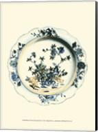 Blue & White Porcelain Plate I Fine-Art Print