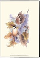 Chickadee and Oak Leaves Fine-Art Print