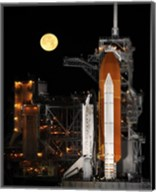 Space Shuttle Discovery under a Full Moon Fine-Art Print