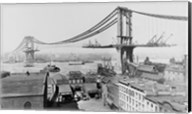 Manhattan Bridge Construction, 1909 far Fine-Art Print