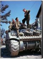 Crew of a Sherman Tank Fine-Art Print