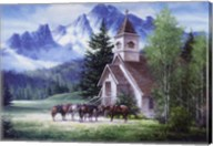 Western Church Fine-Art Print