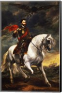 Portrait of Charles V, Holy Roman Emperor, on Horseback Fine-Art Print
