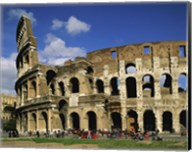 Low angle view of a coliseum, Colosseum, Rome, Italy Fine-Art Print
