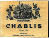Chablis Wine Label Fine-Art Print