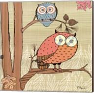Pastel Owls I - mini Fine-Art Print