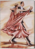 Dancers II (Red) Fine-Art Print