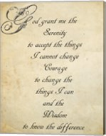Serenity Prayer - quote Fine-Art Print